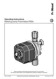 Operating instructions - Metering pump Pneumados PNDb - ProMinent