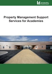 Property Management Support Services for Academies Brochure.