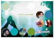 RAPPORT ANNUEL 2010 - Sabam