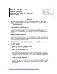 January 2007 - London City Airport Consultative Committee