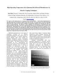 High Operating Temperature InAs Quantum Dot Infrared ...
