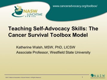 Teaching Self-Advocacy Skills - National Association of Social ...