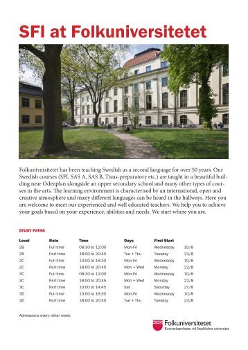 SFI at Folkuniversitetet