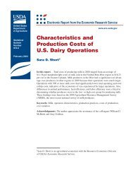 Characteristics and Production Costs of U.S. Dairy Operations