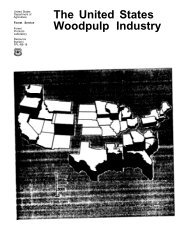 The United States Woodpulp Industry - Forest Products Laboratory ...