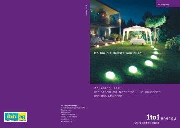 Broschüre 1to1 energy easy - bei der IBH AG