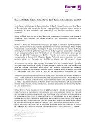 Responsabilidade Social e Ambiental no Banif Banco de ...