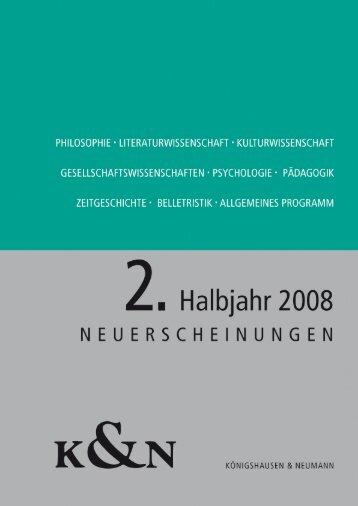 vorschau_2_2008 - Verlag Königshausen & Neumann