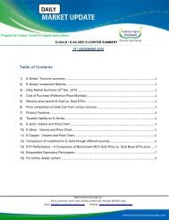Table of Contents - National Spot Exchange Limited