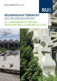 rechenschaftsbericht - des Rechenzentrums - Ruhr-Universität ...