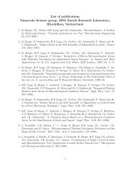 List of publications Nanoscale Science group, IBM Zurich Research ...