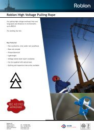 Roblon High Voltage Pulling Rope v4.0.indd - Roblon A/S
