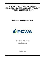 PLACER COUNTY WATER AGENCY MIDDLE FORK AMERICAN ...