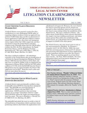 Volume 3, Issue 8 - American Immigration Council