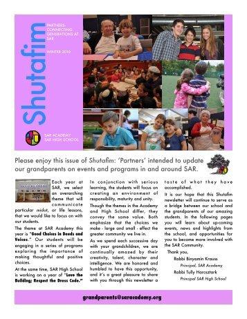Winter 2010 Issue - SAR Academy