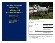 2012 - Svenska Welshponny & Cobföreningen