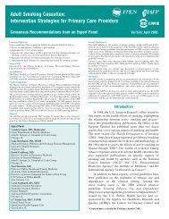 Adult Smoking Cessation: Intervention Strategies for Primary ... - IAFP!