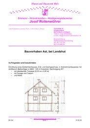 Planen und Bauen mit Holz - Zimmerei Josef Rottenwöhrer