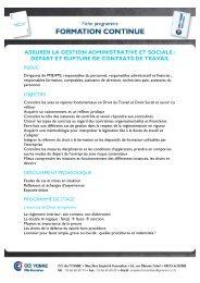 Assurer la gestion administrative et sociale-départ ... - (CCI) de l'Yonne