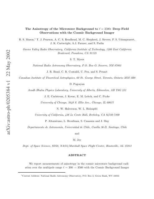 arXiv:astro-ph/0205384 v1 22 May 2002 - iucaa