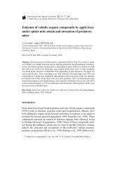 Emission of volatile organic compounds by apple trees under spider ...