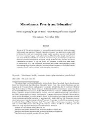 Microfinance, Poverty and Education - The Institute For Fiscal Studies