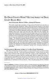 do drug courts work? getting inside the drug court black box