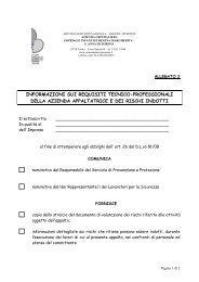 Regolamento - Allegato 2 - Requisiti appaltatore - fareonline.it