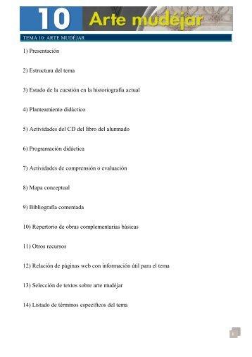 Recursos Tema 10. CD Historia del Arte 2º - Algaida