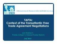 slides here - Citizens Trade Campaign