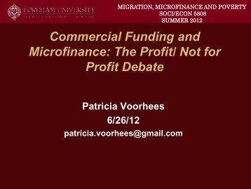 The Profit/ Not for Profit Debate
