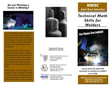 ABE Technical Math Skills for Welders - Northland Community ...