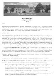 FtR Sept 08:Layout 1.qxd - The OKS Association