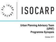 Urban Planning Advisory Team (UPAT) Programme Synopsis - Isocarp