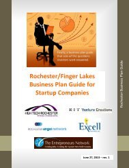 Rochester/Finger Lakes Business Plan Guide for ... - Nazareth College