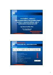 7. Návrh jednotrubkové horizontální otopné soustavy ... - FS ČVUT