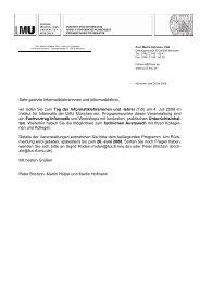 Einladungsschreiben und Anmeldung für den TdI