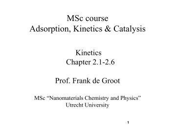 k - Inorganic Chemistry and Catalysis