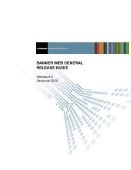 Banner Web General / Release Guide / 8.4