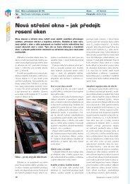 Nová střešní okna – jak předejít rosení oken - Stavebnictví a interiér