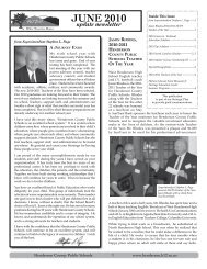 June 2010 update Newsletter - Henderson County Public Schools