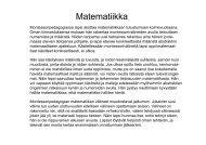 Matematiikka montessoripedagogian varhaiskasvatuksessa 1
