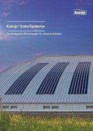 Kalzip® SolarSysteme