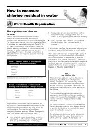 How to measure chlorine residual - World Health Organization