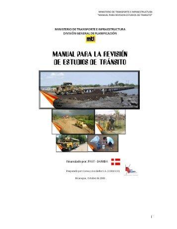 MANUAL PARA REVISION ESTUDIOS DE TRANSITO