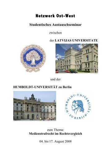 Journal - Prof. Dr. Bernd Heinrich - HU Berlin - Humboldt-Universität ...