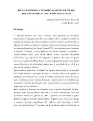 EDUCAÇÃO FEMININA E TRABALHO NA AGENDA POLÍTICA DE ...