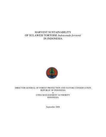 HARVEST SUSTAINABILITY OF SULAWESI ... - Comments on