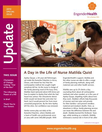 2010 Special Issue - EngenderHealth