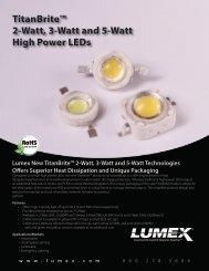 TitanBrite™ 2-Watt, 3-Watt and 5-Watt High Power LEDs - Lumex